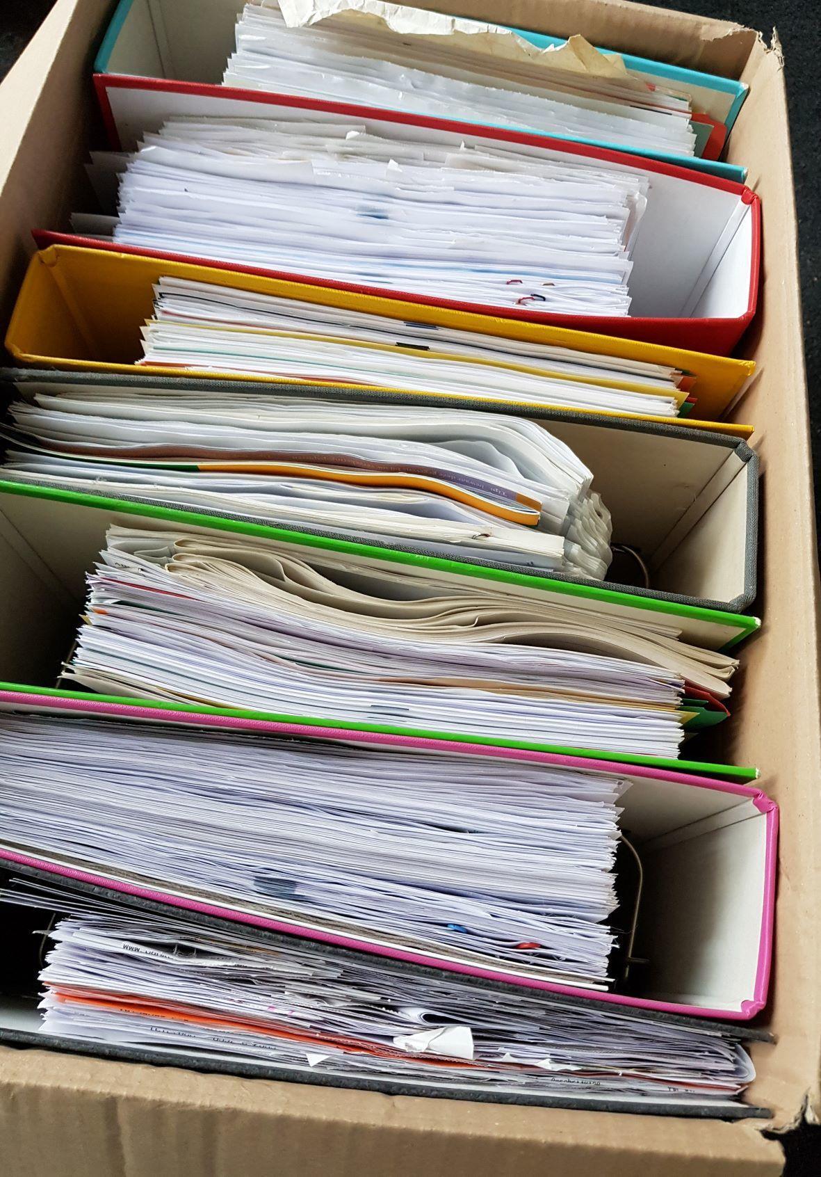 Papieren administratie